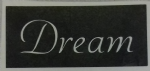 1 - 100  x Dream word stencils for etching on glass  craft hobby glassware   gift present